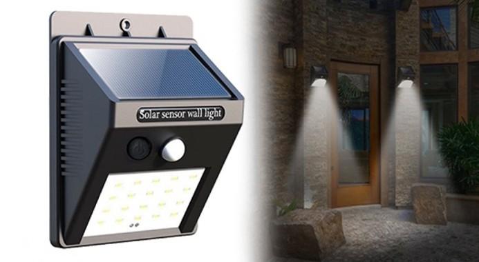 Modernistisk Der kræves ingen ledninger med denne udendørs lampe med 20 LED-lys CS47