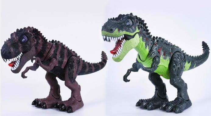 Elektrisk T Rex Dinosaur Med Lys Og Lyd Til Børn Bigsaverdk