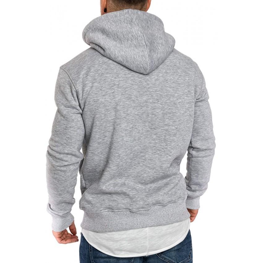 Lækker og blød hættetrøje med lomme til mænd - BigSaver.dk